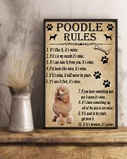Funny Rules For Your Dog Poodle 11x17 Poster lifestyle-poster-3