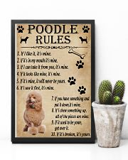 Funny Rules For Your Dog Poodle 11x17 Poster lifestyle-poster-8