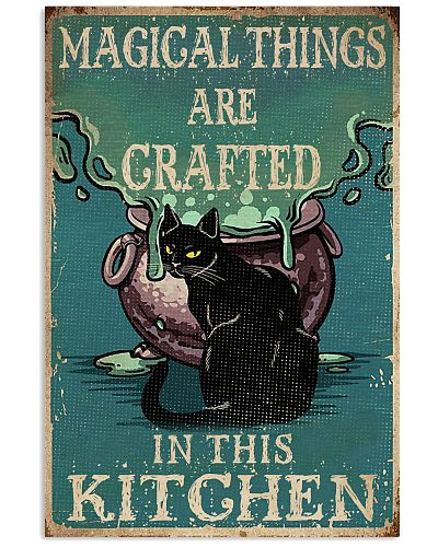 Retro Black Cat Magical Things Crafted In Kitchen