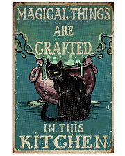 Retro Black Cat Magical Things Crafted In Kitchen 16x24 Poster front