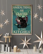 Retro Black Cat Magical Things Crafted In Kitchen 16x24 Poster lifestyle-holiday-poster-1