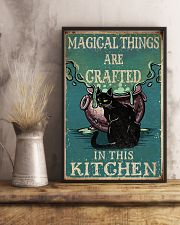 Retro Black Cat Magical Things Crafted In Kitchen 16x24 Poster lifestyle-poster-3