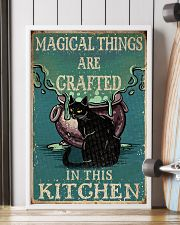 Retro Black Cat Magical Things Crafted In Kitchen 16x24 Poster lifestyle-poster-4