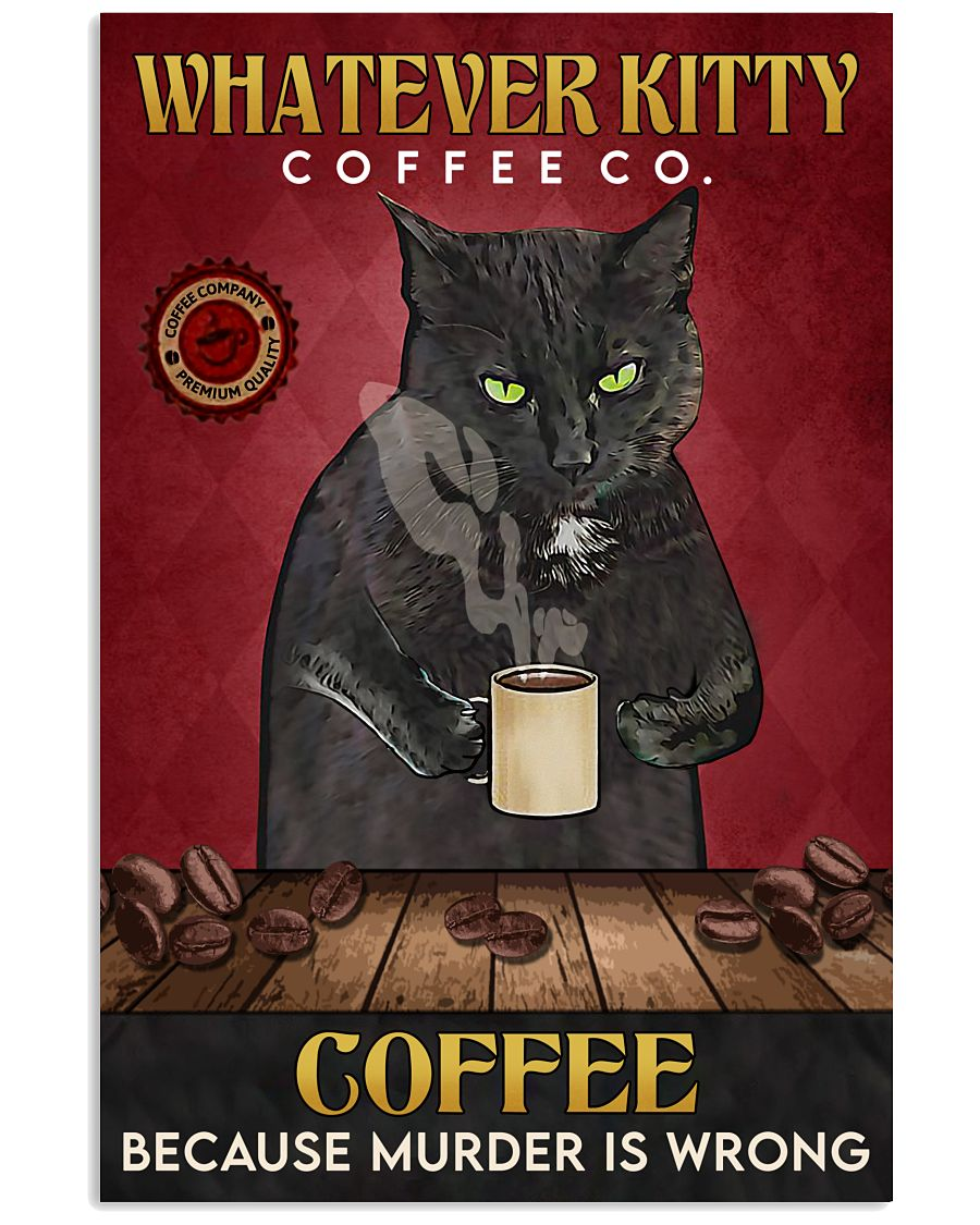 Black Cat Coffee Company 16x24 Poster