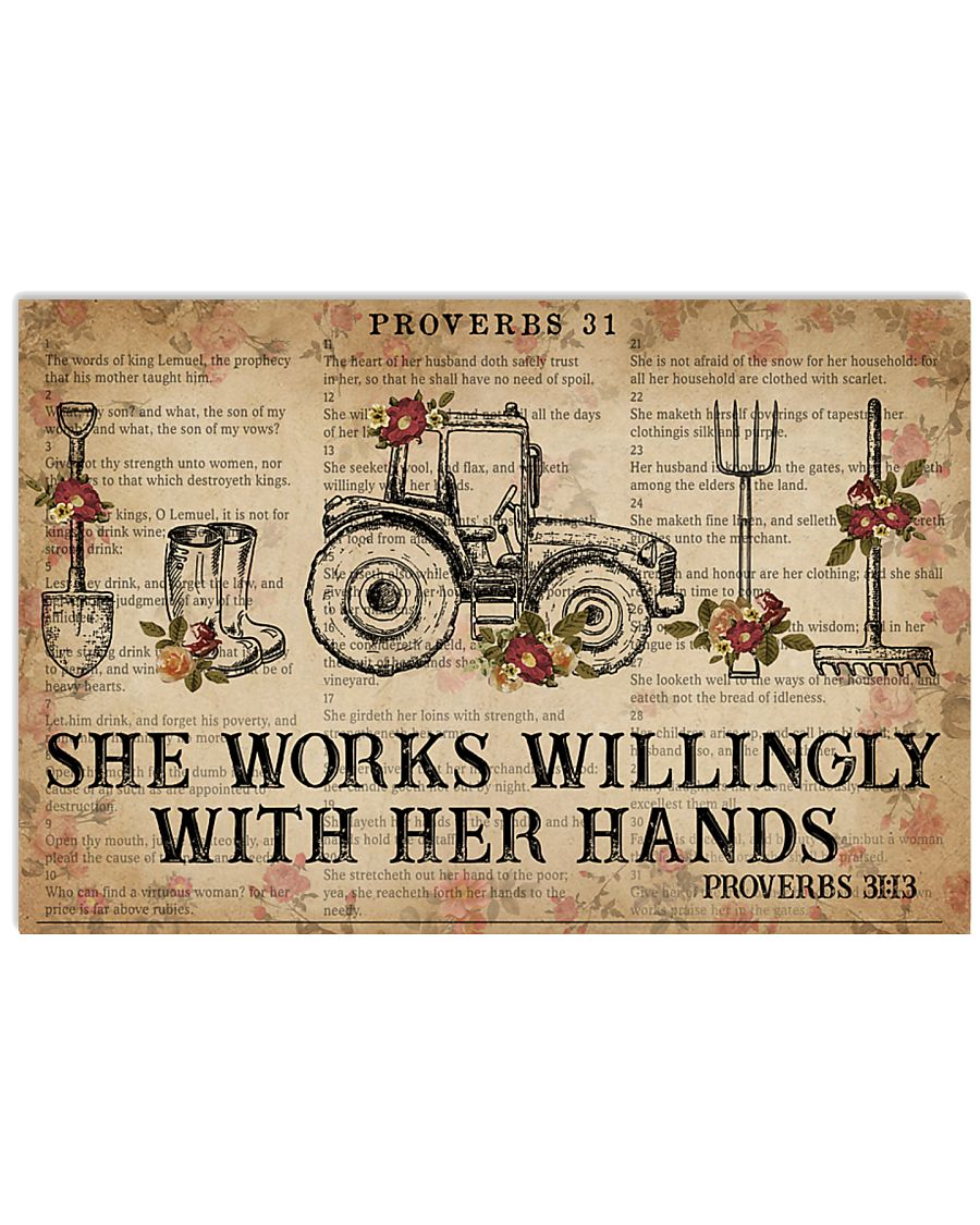 Catchphrase Works Willingly With Hand Farmer 24x16 Poster