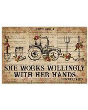 Catchphrase Works Willingly With Hand Farmer 24x16 Poster front