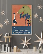 Vintage Girl She Lived Happily Dinosaur 11x17 Poster lifestyle-holiday-poster-1