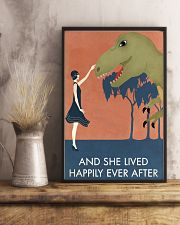 Vintage Girl She Lived Happily Dinosaur 11x17 Poster lifestyle-poster-3