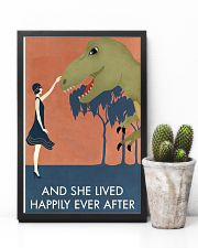 Vintage Girl She Lived Happily Dinosaur 11x17 Poster lifestyle-poster-8