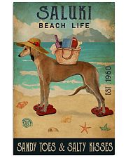 Beach Life Sandy Toes Saluki 11x17 Poster front
