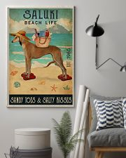 Beach Life Sandy Toes Saluki 11x17 Poster lifestyle-poster-1