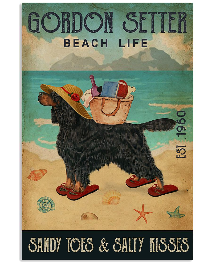 Beach Life Sandy Toes Gordon Setter 11x17 Poster