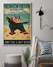 Beach Life Sandy Toes Gordon Setter 11x17 Poster lifestyle-poster-1