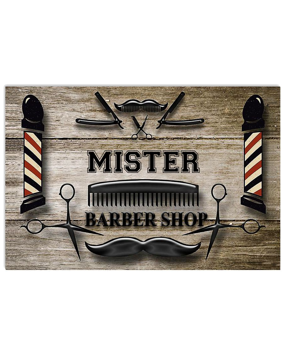Personalized Barber Shop 24x16 Poster