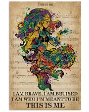 Vintage Music I Am Brave Pride Mermaid 11x17 Poster front