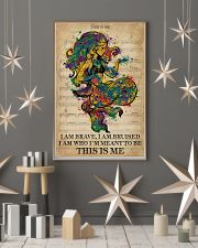 Vintage Music I Am Brave Pride Mermaid 11x17 Poster lifestyle-holiday-poster-1