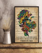 Vintage Music I Am Brave Pride Mermaid 11x17 Poster lifestyle-poster-3