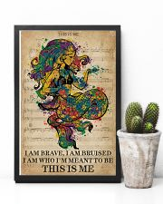 Vintage Music I Am Brave Pride Mermaid 11x17 Poster lifestyle-poster-8