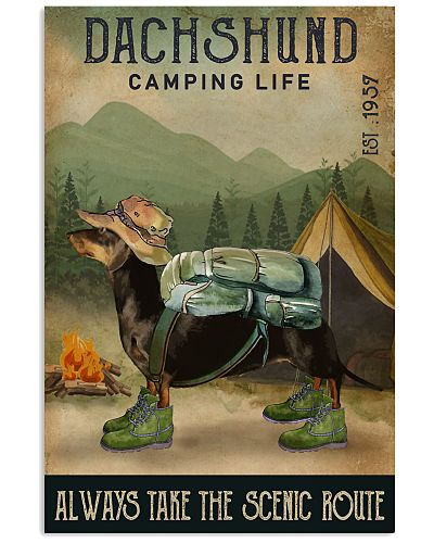 Camping Life Scenic Route Dachshund