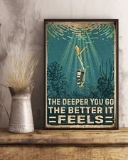 The Deeper You Go Diving 11x17 Poster lifestyle-poster-3
