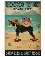 Beach Life Sandy Toes Boston Terrier 11x17 Poster front