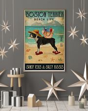 Beach Life Sandy Toes Boston Terrier 11x17 Poster lifestyle-holiday-poster-1