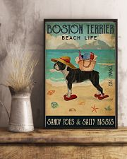 Beach Life Sandy Toes Boston Terrier 11x17 Poster lifestyle-poster-3