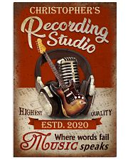 Personalized Guitar Where Words Fail 16x24 Poster front