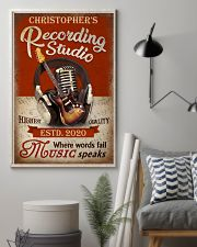 Personalized Guitar Where Words Fail 16x24 Poster lifestyle-poster-1