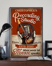 Personalized Guitar Where Words Fail 16x24 Poster lifestyle-poster-2