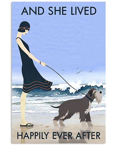Beach And Dog Miniature Schnauzer