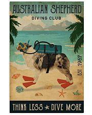 Vintage Diving Club Australian Shepherd 11x17 Poster front
