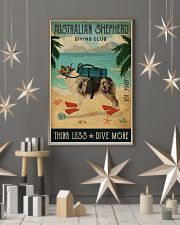 Vintage Diving Club Australian Shepherd 11x17 Poster lifestyle-holiday-poster-1