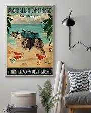 Vintage Diving Club Australian Shepherd 11x17 Poster lifestyle-poster-1