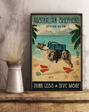 Vintage Diving Club Australian Shepherd 11x17 Poster lifestyle-poster-3