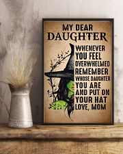 My Dear Daughter Put On Your Hat Witch Mom 16x24 Poster lifestyle-poster-3