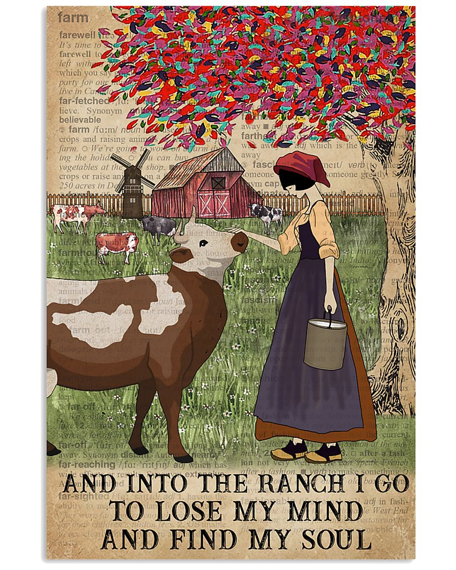 Dictionary Find My Soul Cattle Farm Girl 11x17 Poster