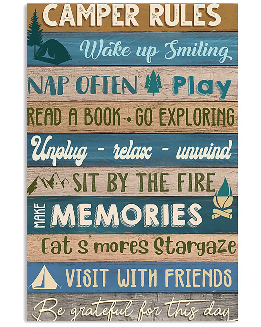 Camping Camper Rules 11x17 Poster