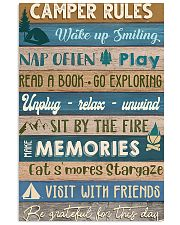 Camping Camper Rules 11x17 Poster front