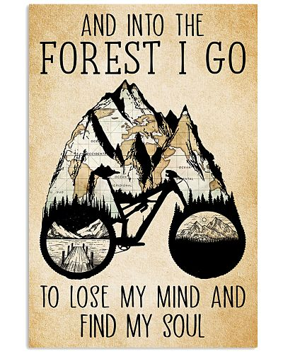 And Into The Forest I Go Poster Cycling
