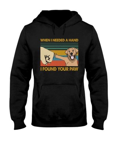 Retro Blue I Found Your Paw Labrador Retriever