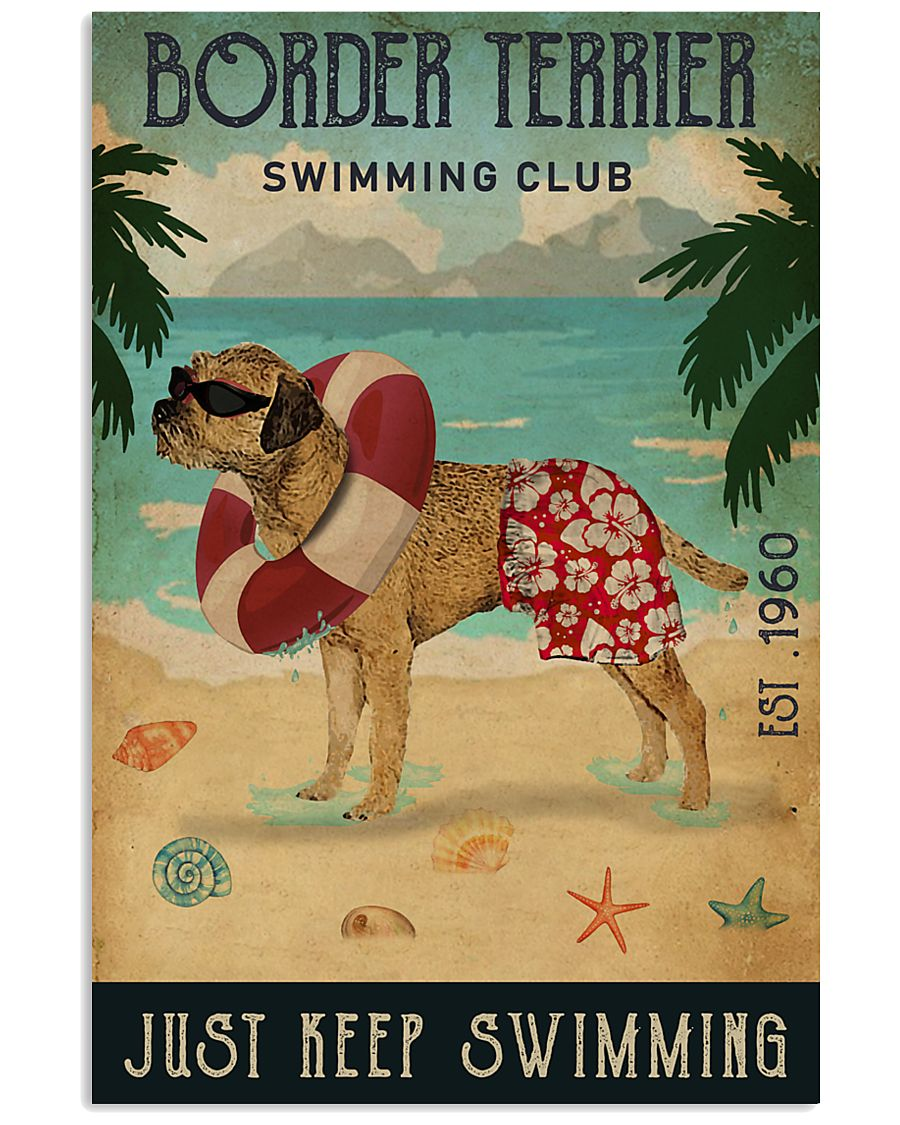Vintage Swimming Club Border Terrier 11x17 Poster