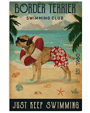 Vintage Swimming Club Border Terrier 11x17 Poster front