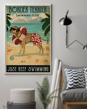Vintage Swimming Club Border Terrier 11x17 Poster lifestyle-poster-1