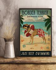 Vintage Swimming Club Border Terrier 11x17 Poster lifestyle-poster-3