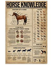 Horse Knowledge 16x24 Poster front