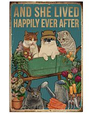 Retro Lived Happily Cats And Garden 11x17 Poster front
