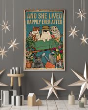 Retro Lived Happily Cats And Garden 11x17 Poster lifestyle-holiday-poster-1