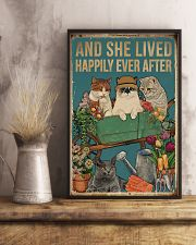 Retro Lived Happily Cats And Garden 11x17 Poster lifestyle-poster-3
