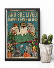 Retro Lived Happily Cats And Garden 11x17 Poster lifestyle-poster-8